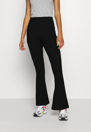Leggings - Flared Leg Trousers - Leggings - black
