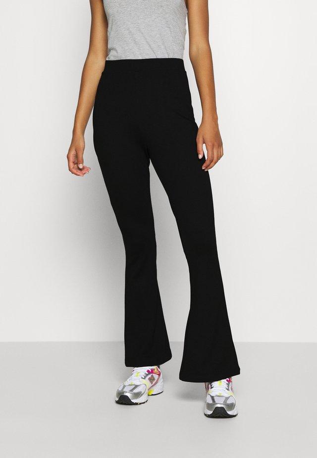 Leggings - Flared Leg Trousers - Leggings - Trousers - black