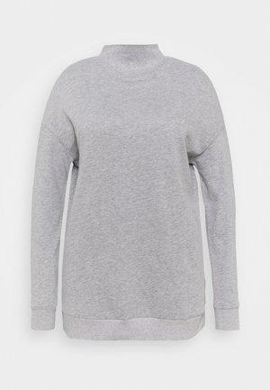 HIGH NECK - Sweatshirt - grey marl
