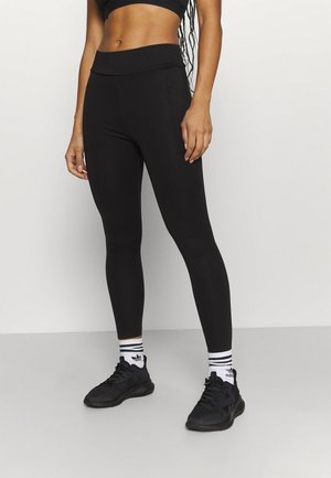 COMPRESSION TIGHTS - LAMINATED SEAMS - Leggings - black