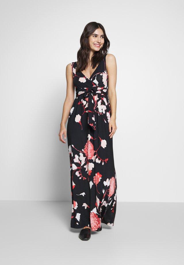 Robe longue - black/pink