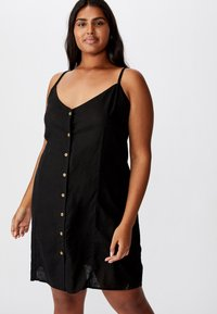 Cotton On Curve - CURVE MAISE STRAPPY - Day dress - black - 0