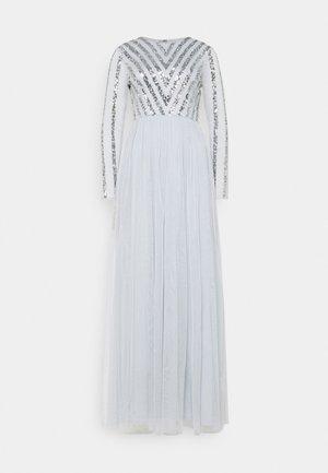 STRIPE EMBELLISHED LONG SLEEVE DRESS - Společenské šaty - glacier blue