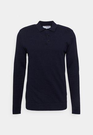 SLHBERG NECK - Pikeepaita - navy blazer