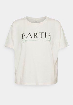 GRAPHIC EARTH DAY TEE - Print T-shirt - cream