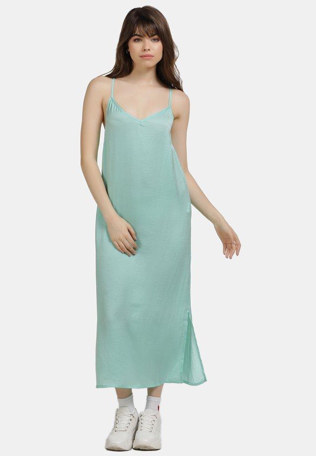 Maxi šaty - aqua