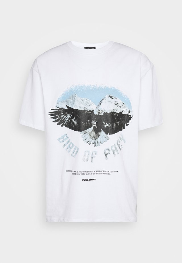 EAGLE OVERSIZED TEE UNISEX - Print T-shirt - white