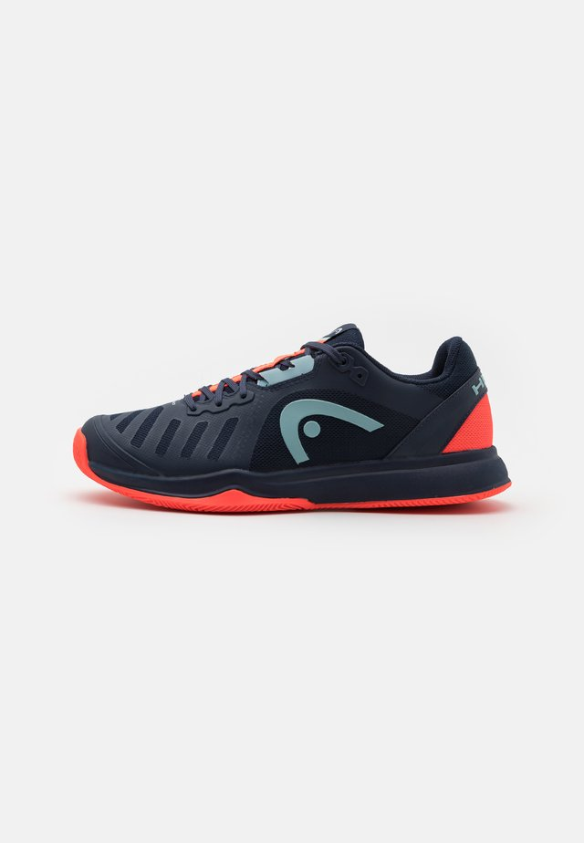 SPRINT TEAM 3.0 CLAY - Clay court tennis shoes - dress blue/neon red