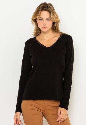 COL V RESPONSABLE - T-shirt à manches longues - noir