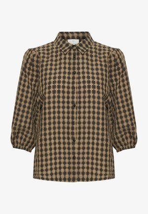 Button-down blouse - thrush / black check