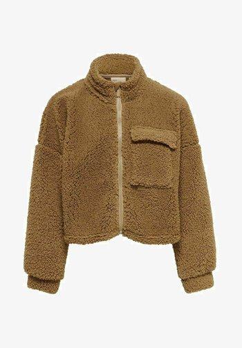 TEDDYFLEECE - Zip-up sweatshirt - tannin