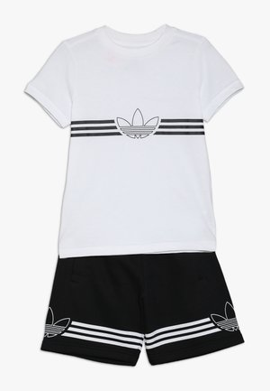 OUTLINE TEE AND SHORTS SET - Sports shorts - white