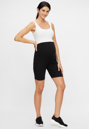 2ER-PACK DEHNBARE JERSEY - Shorts - black