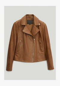 Massimo Dutti - Leather jacket - brown - 0