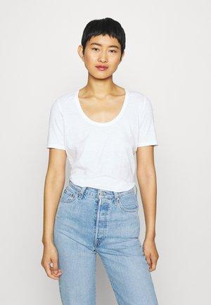 SHORT SLEEVE ROUND NECK SOLID - Basic T-shirt - white