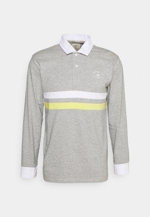 CORE STRIPE RUGBY - Polo shirt - grey marl