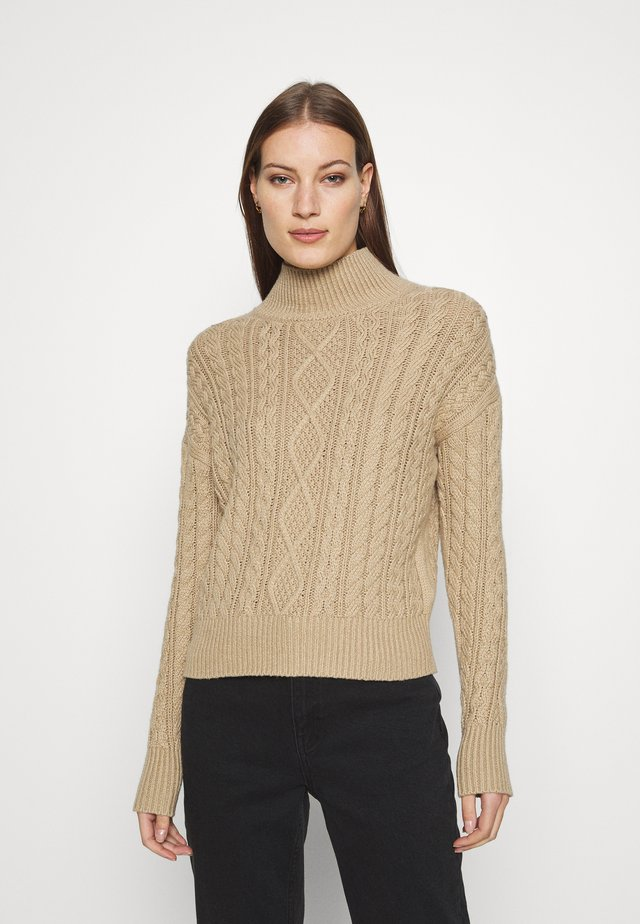 ANDES CABLE TNECK - Svetr - beige
