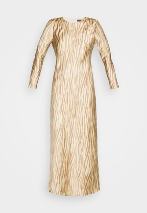 BIAS DRESS - Maxi šaty - brown