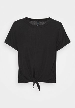 TIE UP  - T-shirt - bas - black