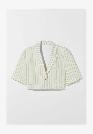 STRIPED SHORT SLEEVE - Summer jacket - white