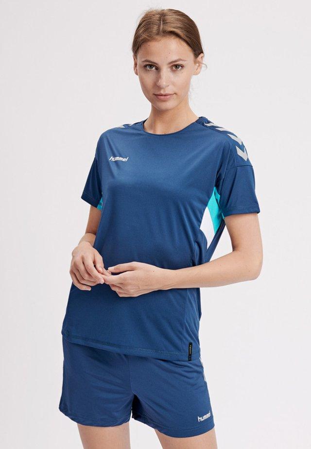 TECH MOVE - Print T-shirt - sargasso sea