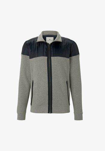 Zip-up sweatshirt - middle grey melange