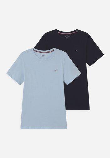2 PACK  - Basic T-shirt - desert sky/luminous blue