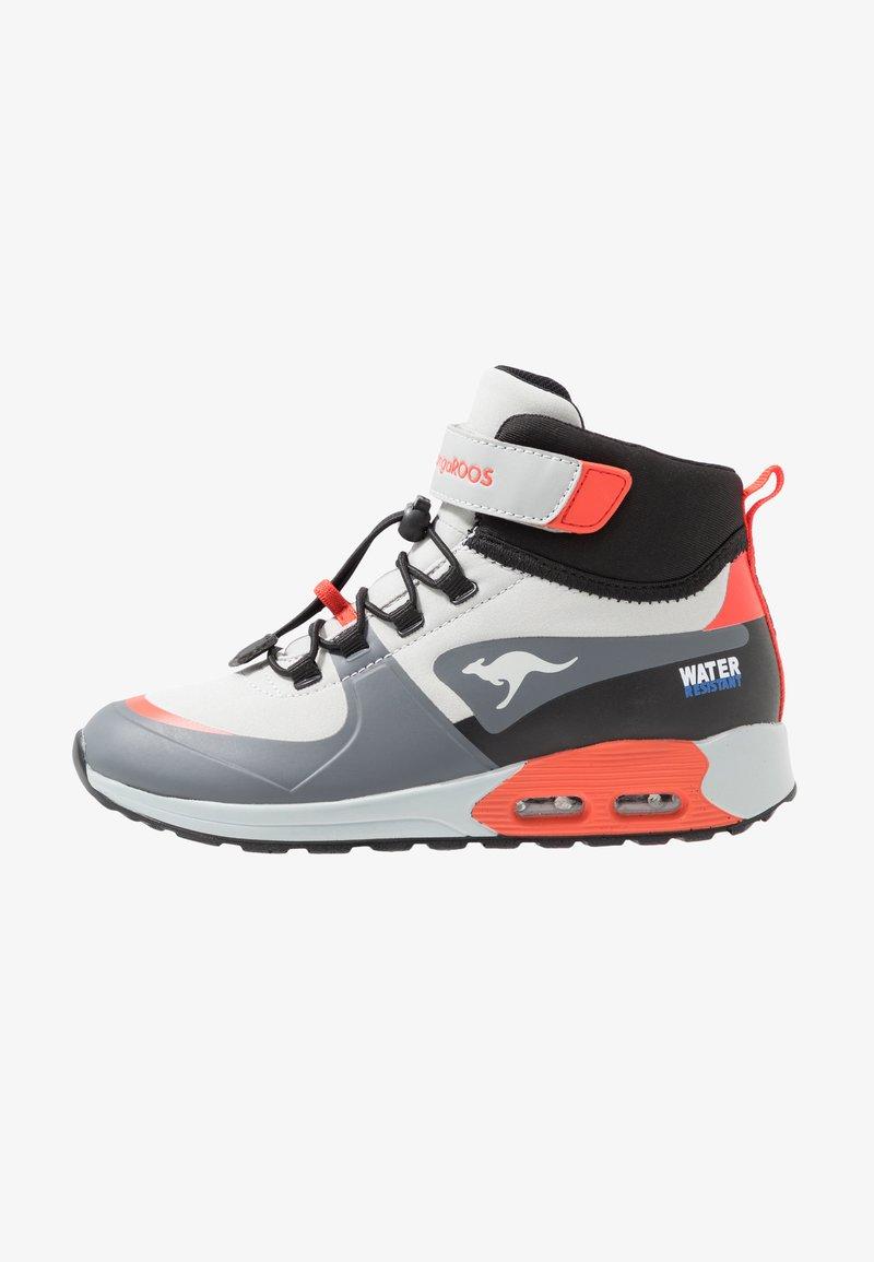 KangaROOS - X HYDRO - Höga sneakers - steel grey/red