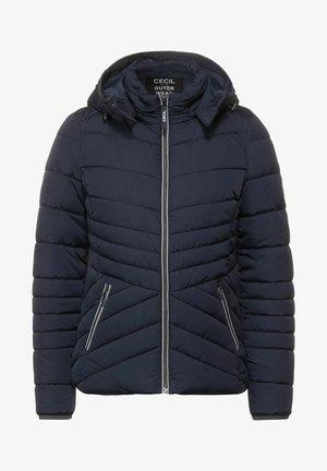 MIT ZIPPER - Winter jacket - blau