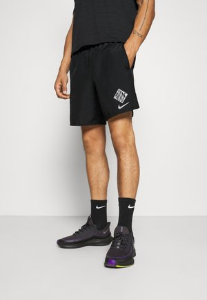 Sports shorts - black/reflective silver