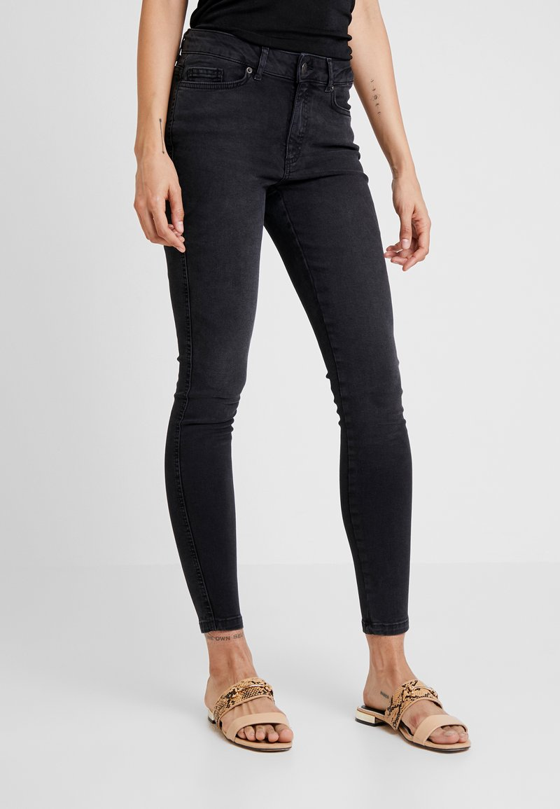 ONLY - ONYANNE MID ANKLE - Jeans Skinny Fit - black denim