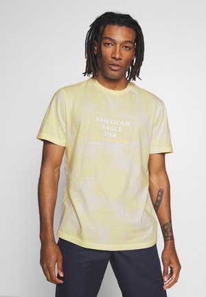 SET IN TEE - Print T-shirt - yellow