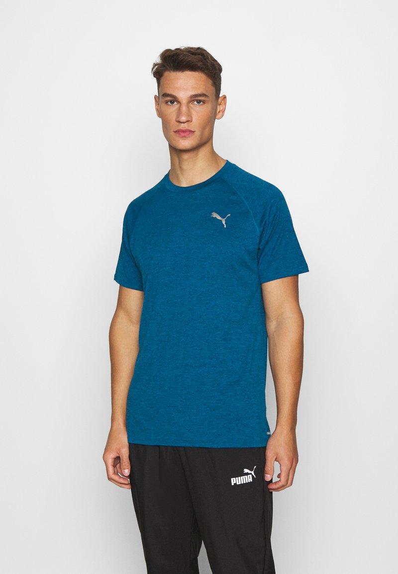 Puma - HEATHER TEE - T-shirt basic - digi-blue heather