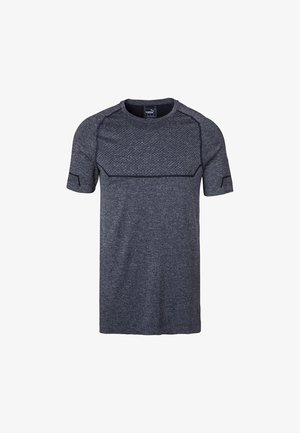 ENERGY SEAMLESS - Basic T-shirt - peacoat heather