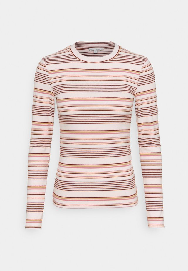 STRIPED COSY LONGLSEEVE - Pitkähihainen paita - creme/rose/beige