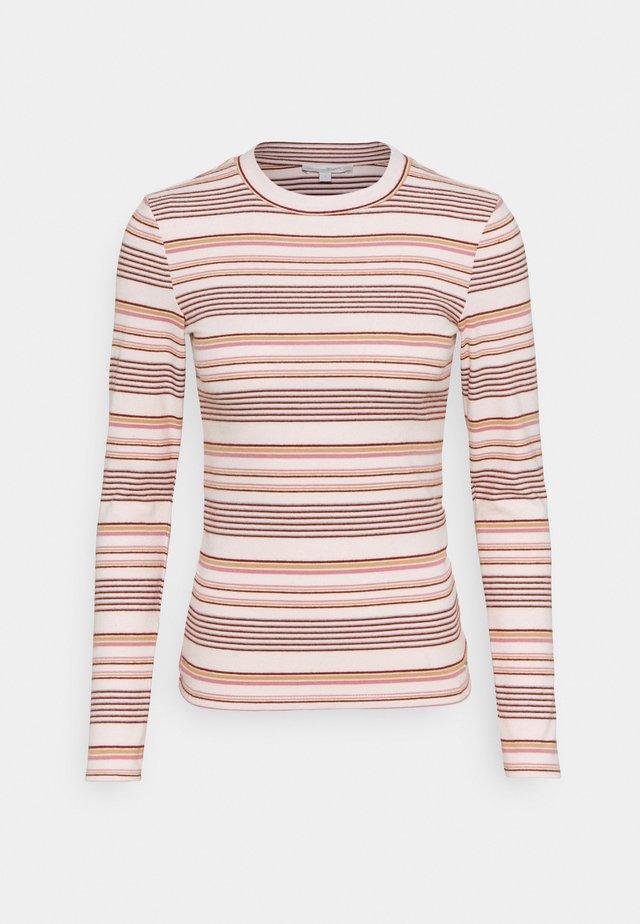 STRIPED COSY LONGLSEEVE - Bluzka z długim rękawem - creme/rose/beige