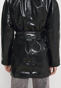 Weekday - JANIS SHORT JACKET - Short coat - black - 4