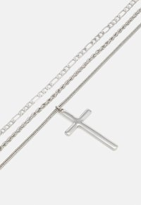 Topman - CROSS MULTIROW NECKLACE SET - Necklace - silver-coloured