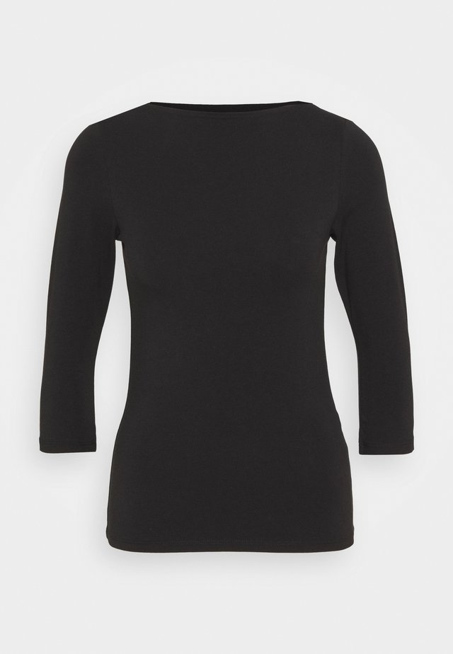 ONLLIVE LOVE BOATNECK - Bluzka z długim rękawem - black