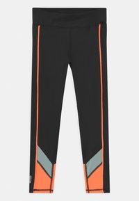 ONLY Play - ONPDANDO GIRLS - Leggings - black/gray mist/sunset orange - 0