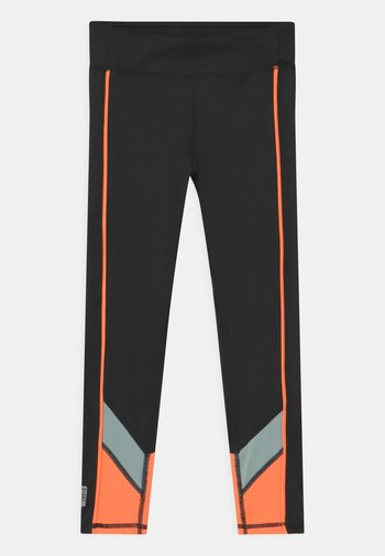 ONPDANDO GIRLS - Leggings - black/gray mist/sunset orange