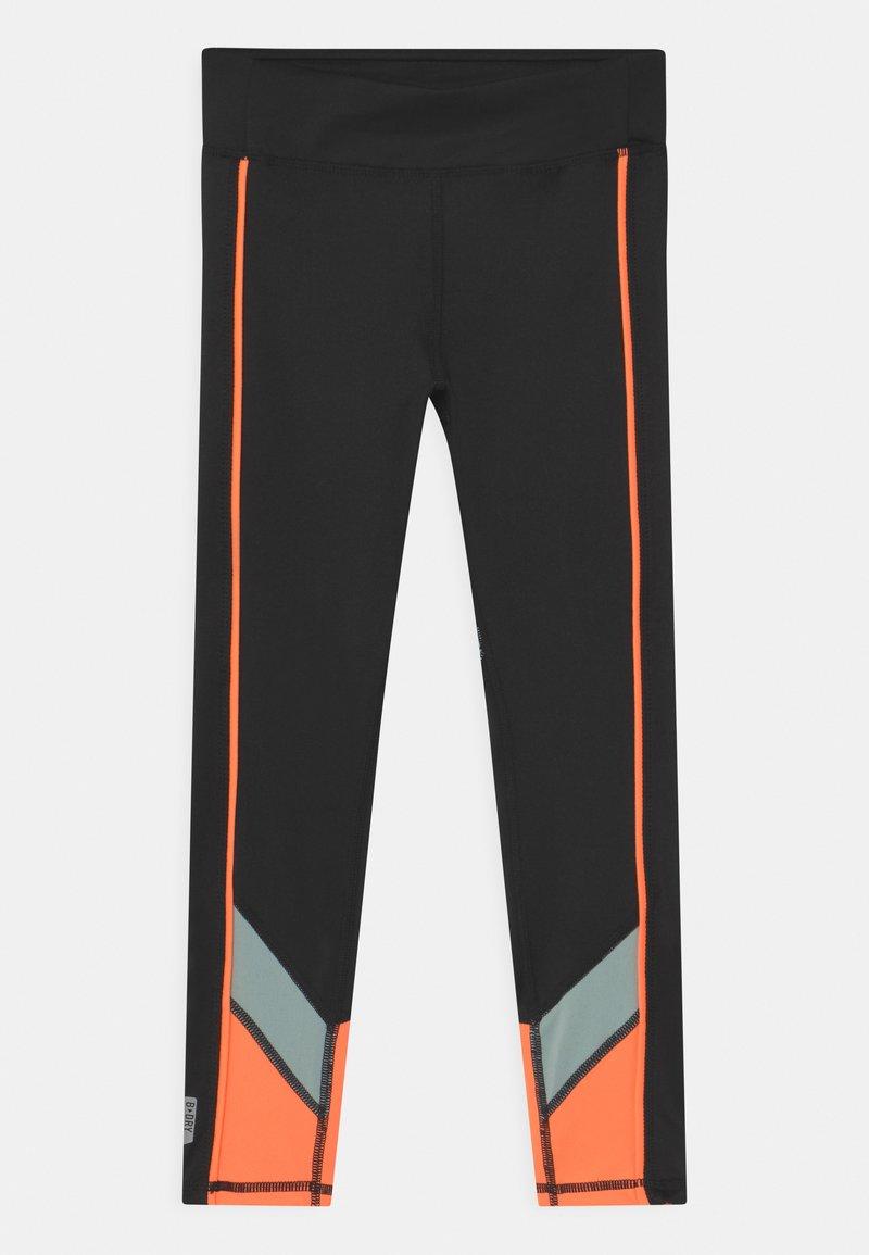 ONLY Play - ONPDANDO GIRLS - Leggings - black/gray mist/sunset orange