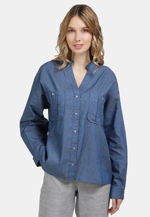 Button-down blouse - light denim