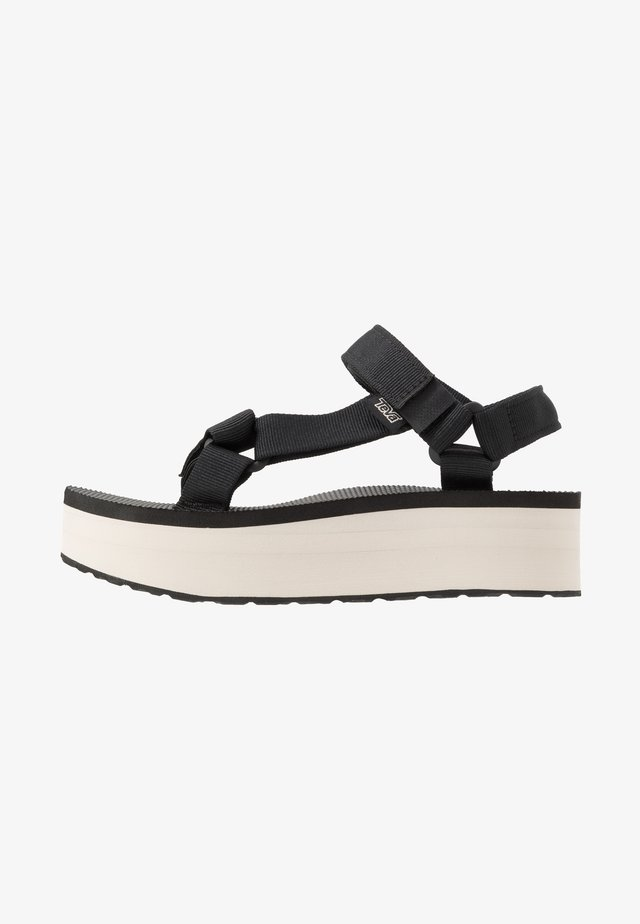 FLATFORM UNIVERSAL WOMENS - Walking sandals - black/tan