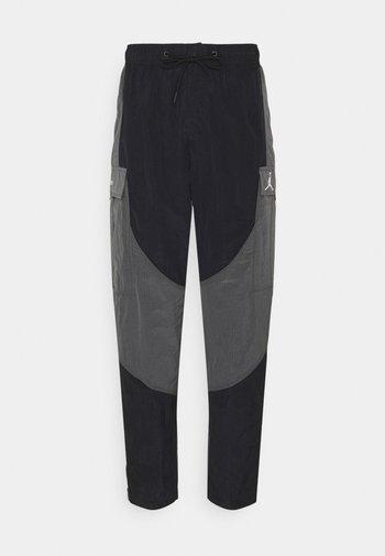PANT - Cargo trousers - black/grey/black/white