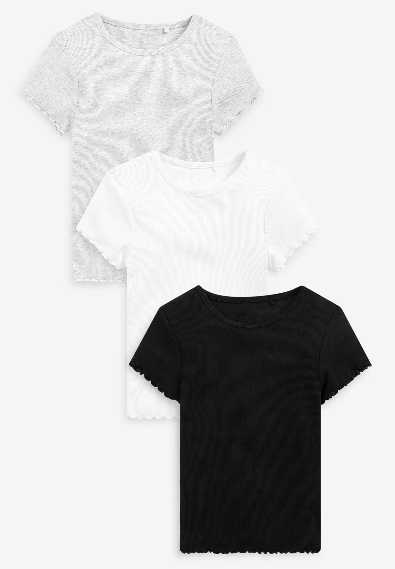 Bambini 3 PACK SHORT SLEEVE RIBBED - T-shirt basic