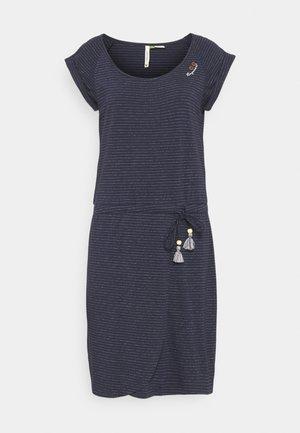 GLITTER - Žerzejové šaty - navy