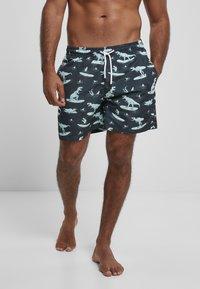 Urban Classics - Swimming shorts - surfing t rex aop - 0