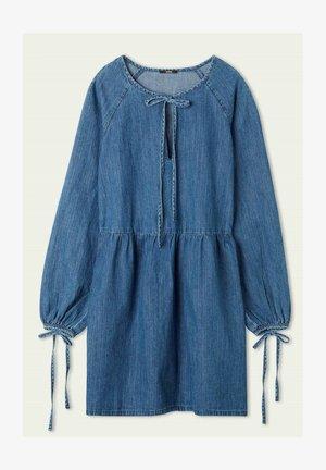 LANGARM MIT SCHNÜRUNG - Denim dress - blu jeans