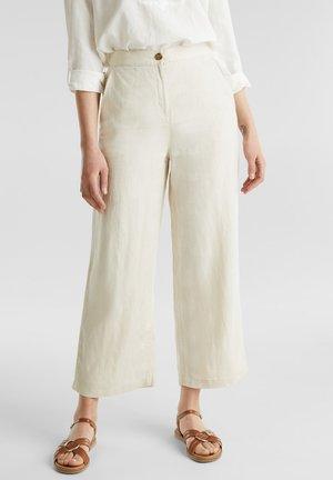 AUS LEINEN: CULOTTE MIT MODISCHEM BUND - Trousers - sand